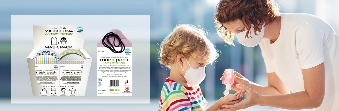 Mask pack®<br>Porta mascherina antibatterico